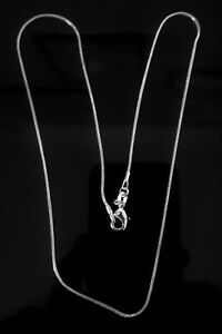 """925 SILVER PLATED 18"""" CHAIN NECKLACE CURB OR SNAKE YOU CHOOSE GIFT WEDDING"""