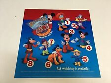 1994 McDonalds Happy Meal Translite Sign Store Display Disney Epcot Adventure 13