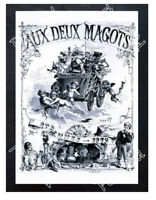Historic stores Aux deux magots for Christmas in 1879 Advertising Postcard