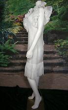 FANCY MOD BRIDAL NY WEDDING GOWN DRESS 6 VINTAGE INSPIRED WHITE SHORT RUFFLES