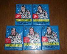 5 1979 MOONRAKER JAMES BOND 007 TRADING CARD PACKS