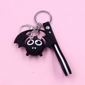 Cute Vampire Bat Halloween Key Chain Bag Key Ring Pendant - UK Seller