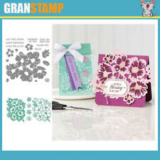 LAYERED BLOSSOMS Metal Cutting Dies and Stamps ((Price include STAMP and DIE)