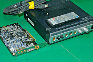Creative Soundblaster Audigy 2ZS SB0350 c/w  PCI  card, IO Hub remote & cables