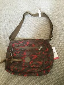 New With Tags Brown Patterned Bag By Kipling With Marina Monkey Keyring