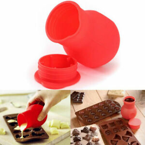 Silicone Rubber Chocolate Melting Pot Mould Butter Sauce Milk Baking Pouring