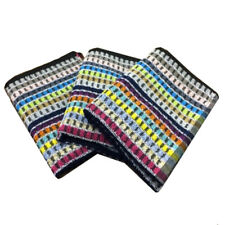 New Riggs Set Of 3 Multi Stripe Kitchen / Tea Towels, 50cm x 65cm, 100% Cotton