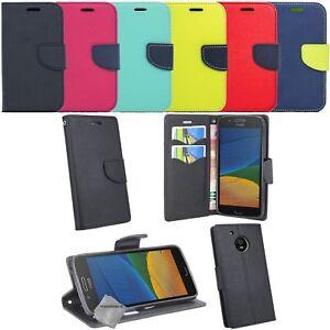 Housse etui coque pochette portefeuille pour Motorola Moto G5 + film ecran