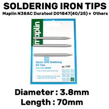 3 Pack Assorted Soldering Iron Tips Bits Maplin N38AC Duratool D01847-40 +25w