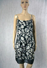 **PURPLE PATCH** Floral Dress 12 Black Grey Shiny Cocktail M Australia