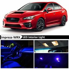 10x Blue Interior LED Light Package Kit 2015-2017 Subaru WRX STI
