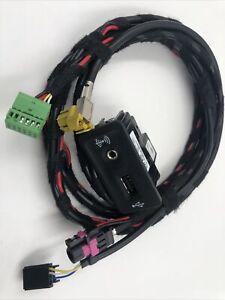 VW Volkswagen MIB2 Carplay Auto USB/AUX Port Audio Input Socket Harness 1.5m