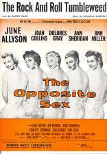 "OPPOSITE SEX Sheet Music ""Rock & Roll Tumbleweed"" Joan Collins Ann Miller"