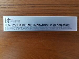 it COSMETICS NATURALLY FLUSHED Vitality Lip Blush Hydrating Lip Gloss Stain NIB!
