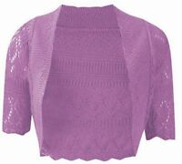 NEW WOMENS KNITTED BOLERO SHRUG CROCHET CARDIGAN LADIES PLUS SIZE TOP 8-32