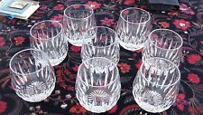 STUART CRYSTAL- CLARIDGE - SET OF TEN ROUNDED OLD-FASHIONED GLASSES - PERFECT