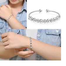 Wholesale Fashion Jewelry Silver Plated Lady Beaded Bracelet Bangle Gift