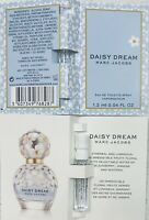 2x New Marc Jacobs Daisy Dream Eau de Toilette spray sample Vials .04oz/1.2ml Ea