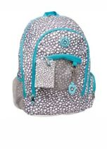 Double Dutch Club 18'' Grey Leopard Backpack with mini notebook & laptop pocket