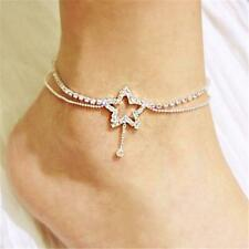 Girls Women's Anklet Rhinestones Fashion Wedding Gifts Summer Ankle Bracelet Li