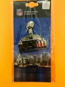 NFL Super Bowl XLVIII New York Jersey 02/02/14 Lapel Pin