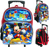 "Disney Mickey Mouse 12"" Toddler Rolling School Backpack Boy's Book Bag"