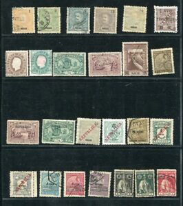 D165314 Macau Nice selection of MH + Used to VFU stamps