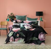 Bianca Charmaine Quilt Cover Set Black