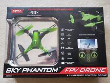 Syma Sky Phantom FPV Drone D1650WH 2 Speeds, App, 4 CH Remote Control - Green