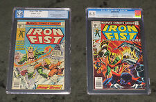 1977 IRON FIST 14 15 GRADED FN+ 1ST SABRETOOTH 6.5 CGC PGX CLAREMONT BYRNE X-MEN