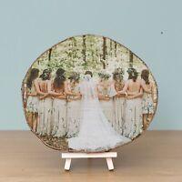5th Wedding Anniversary Gift - Photo On Wood Slice - Personalised Log Slice Gift