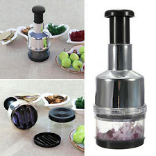 Stainless Fruit Salad Vegetable Onion Hand Chopper Slicer Cutter Kitchen New..