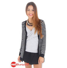 Cotton Machine Washable Striped Regular Jumpers & Cardigans for Women