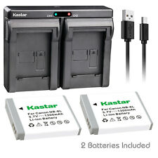 Kastar NB-6LH Battery + Charger for Canon PowerShot SX530 SX540 SX610 HS SX710HS