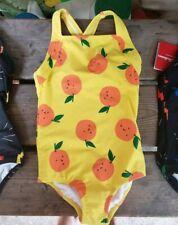 NWT HANNA ANDERSSON Girl SZ 100/4Y YELLOW ORANGES FRUIT 1pc Swimsuit bathingsuit
