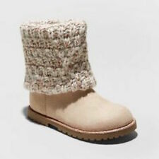 New Cat & Jack Lilla Fashion Boots Tan Toddler Girls Size 5