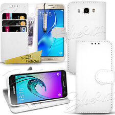 For SAMSUNG GALAXY J5 2016 - Wallet Leather Case Flip Cover + Screen Protector