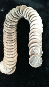 1946-S JEFFERSON NICKEL ROLL - 40 NICE UNCIRCULATED NICKELS   MBDRX9