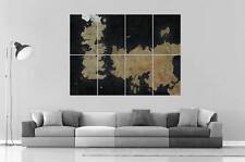 GAME OF THRONES SEVEN KINGDOMS OF WESTEROS  Wall Art Poster Grand format A0