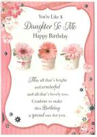 Daughter To Me Birthday Card.You're Like A Daughter To Me Happy Birthday