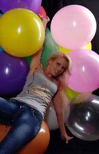 100 Luftballons 45cm Ø bunt * 100 x Ballon bunt PREMIUM *KARNEVAL SONDERPREIS