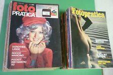 """LOTTO 49 MAGAZINE DAL 1969 AL 1985 """" FOTOPRATICA """"  RIVISTA DI FOTOGRAFIA"""