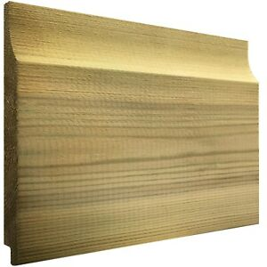150mmx15mm Thick Treated Wooden Shiplap Cladding Boards 1.2m,1.8m,2.4m,3.0m,3.6m