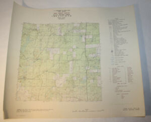 Vintage Forest Service Map Alvin WI 1948 - Ritter Lake