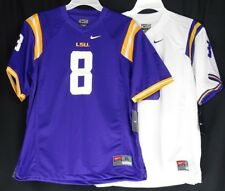050c46992a1 LSU Tigers Youth Boys NIKE White or Purple  8 Football Jersey NCAA