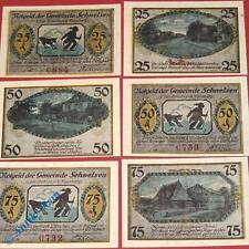 6 x Notgeld Schnelsen , Hamburg , german emergency money , M/G 1192.1 , kfr/unc