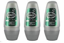 3 x BRUT ORIGINAL Deodorante Roll-on per gli uomini 50 ML