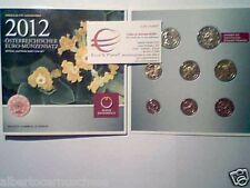 2012 Austria 8 monete 3,88 euro Autriche Österreich fdc bu kms folder ufficiale