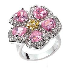 "Park Lane ""FLORAL FANTASY"" RING - Hostess PINK - Orig $285 - Size 8 - Stunning!!"
