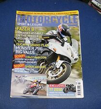 MOTORCYCLE SPORT & LEISURE JULY 2010 NO:598 - FAZER 8/DUCATI'S GRAND PLAN